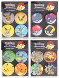 Pokemon Four Pack Buttons (Assorted)