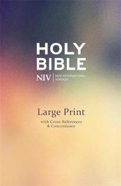 NIV Large Print Single-Column Deluxe Reference Bible by New International Version