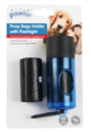 Pawise: Dog Waste Bags Dispenser Lamp On Blister - 2X 20 mixed colors
