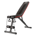 Ape Style Adjustable Incline Decline Gym Bench with Resistance Bands