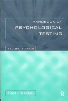 Handbook of Psychological Testing by Paul Kline image