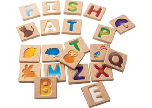 Plan Toys Alphabet A-Z Tile Set