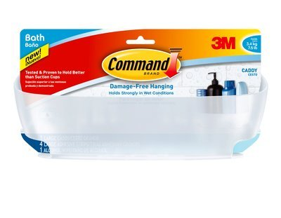 3M Command Shower Caddy with Water-Resistant Strips