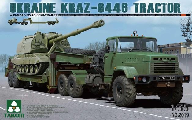 Takom 1/35 Ukraine KrAZ-6446 Tractor with ChMZAP-5247G Semi-trailer