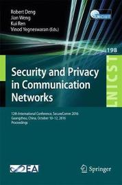 Security and Privacy in Communication Networks image