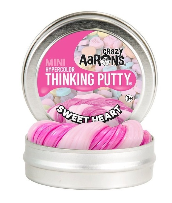 Crazy Aarons Thinking Putty: Sweet Hearts - Mini Tin