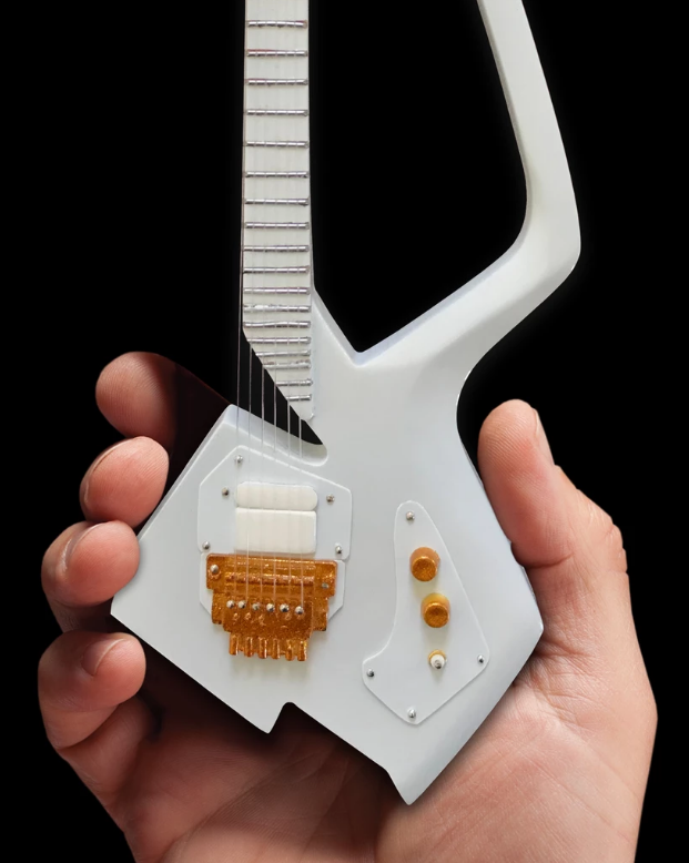 Axe Heaven: Miniature Replica - White Auerswald Model C Guitar (The Artist Formerly Known as) image