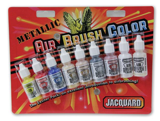 Jacquard: Airbrush Exciter Pack - Metallic (Set of 9)