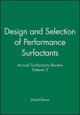 Design and Selection of Performance Surfactants: v. 2 image