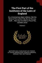 The First Part of the Institutes of the Laws of England by Matthew Hale image