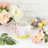 Pinky Up: Harper - Ceramic Teapot & Infuser (Colour Block)