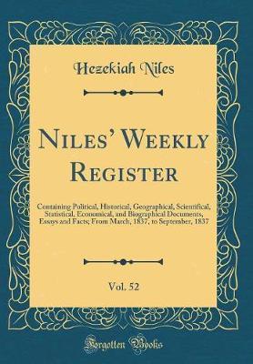 Niles' Weekly Register, Vol. 52 by Hezekiah Niles image