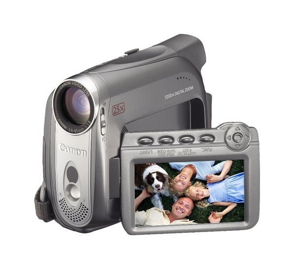 Canon MV960 Digital Video Camcorder 25X Optical Large Battery Life Sd Slot White Led