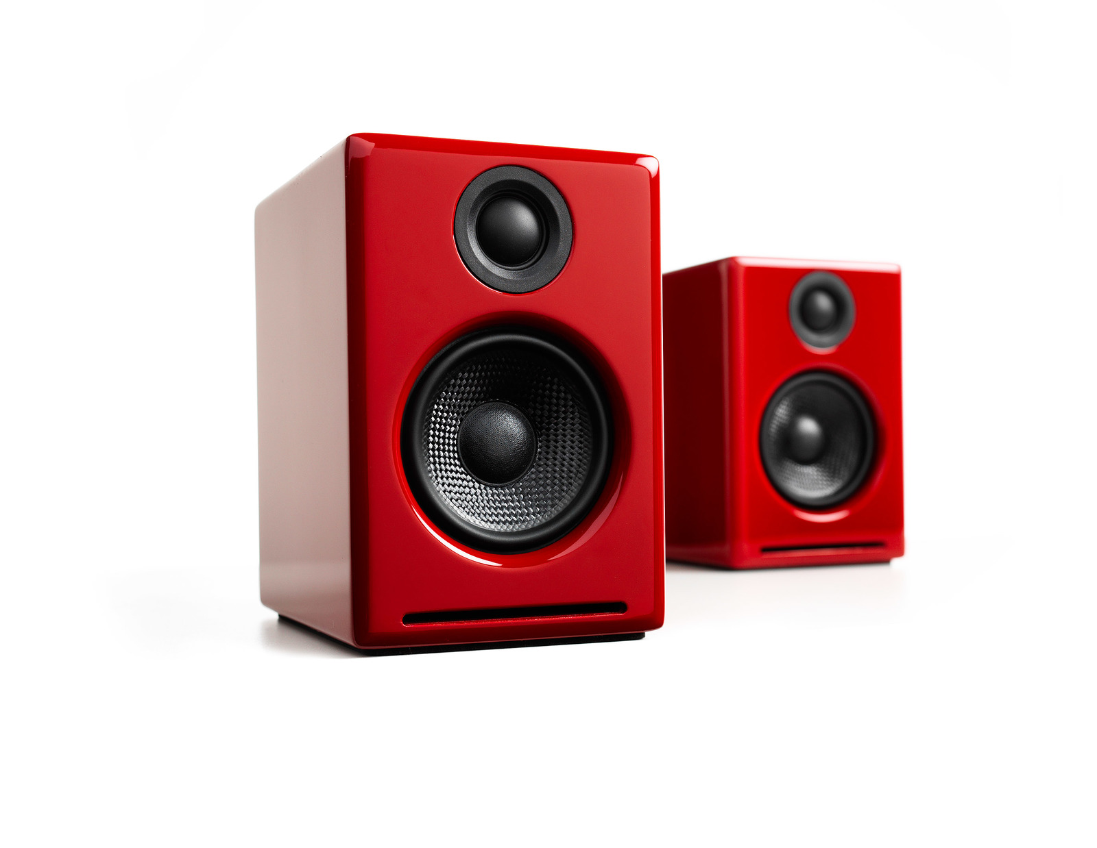 Audioengine 2+ Wireless Desktop Speakers - Gloss Red image