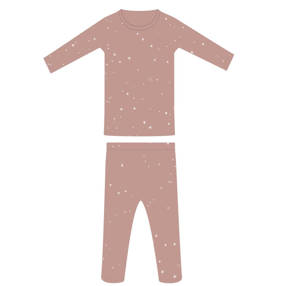 Woolbabe: Merino/Organic Cotton Pyjamas Dusk Stars - 4 Years image