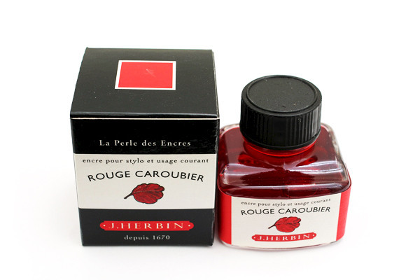 J Herbin: Fountain Pen Ink - Rouge Caroubier (30ml) image