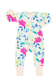 Bonds Zip Wondersuit Long Sleeve - Unreal Floral (6-12 Months)
