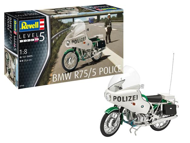 Revell: BMW R75/5 Police Motorbike - 1:8 Scale Model Kit