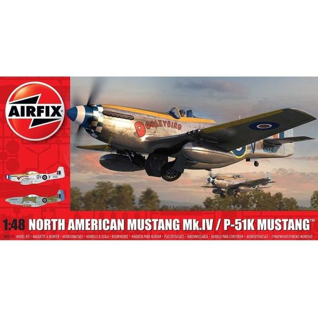 Airfix 1:48 North American Mustang MkIV/P-51K Scale Model Kit