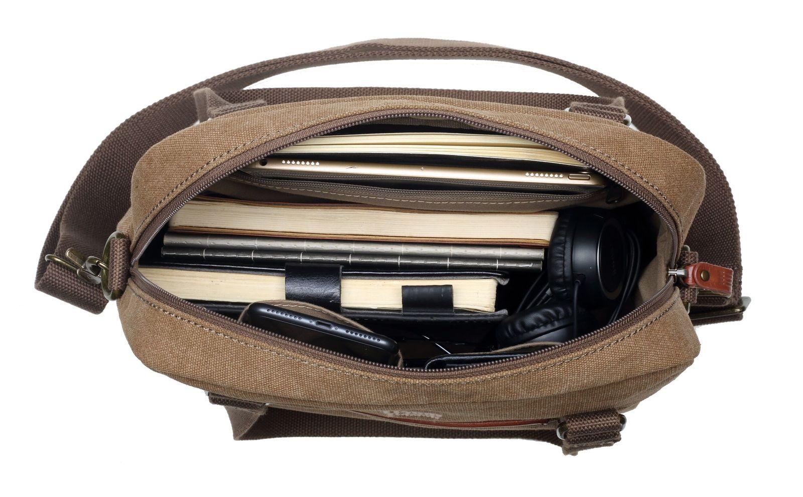 Troop London: Metro Shoulder Bag - Brown image
