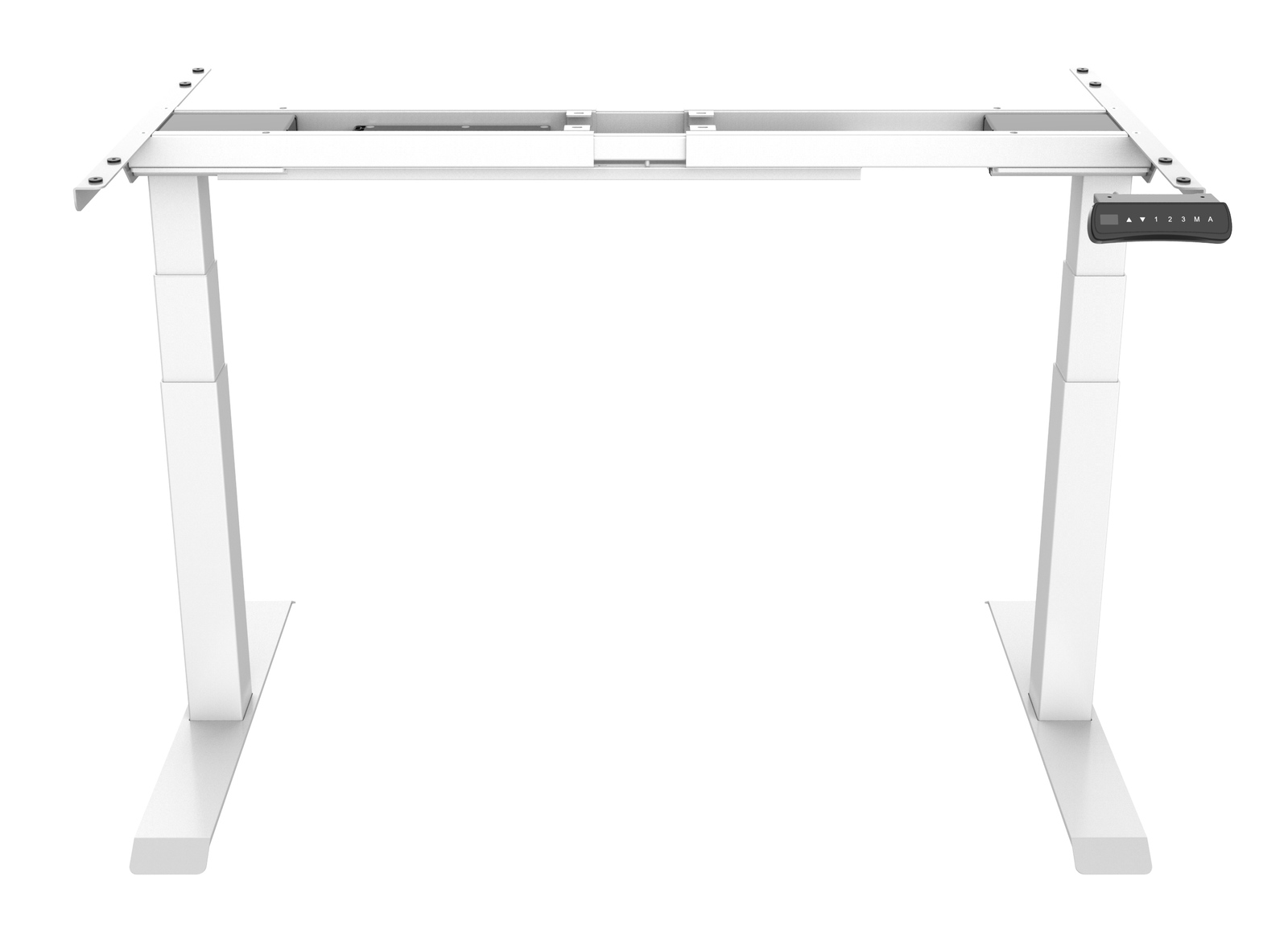 Gorilla Office: 3-Stage Motorised Height Adjustable Desk - White/White (1800 x 800mm) image