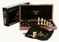 Dal Rossi Walnut Chess Set (30cm)