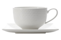 Maxwell & Williams White Basics Diamonds Cup & Saucer (220ml)
