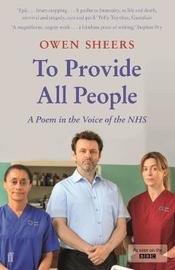 To Provide All People by Owen Sheers