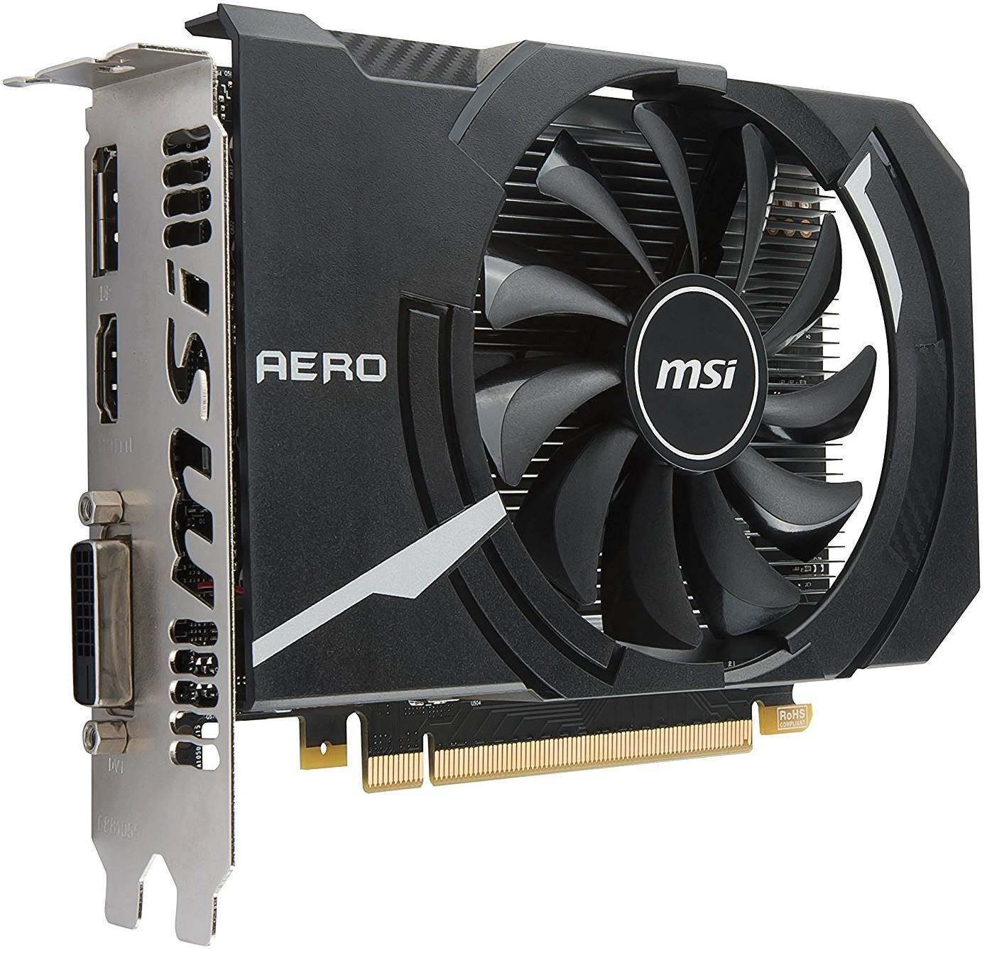 MSI GeForce GTX 1050 TI Aero 4GB OC V1 Graphics Card image