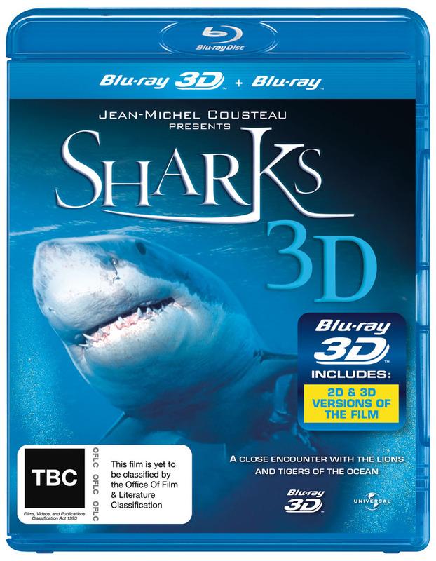 Sharks (3D & 2D Blu-ray) on Blu-ray, 3D Blu-ray