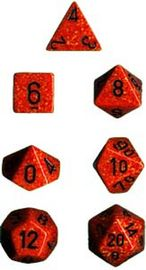 Chessex Speckled Polyhedral Dice Set - Fire image
