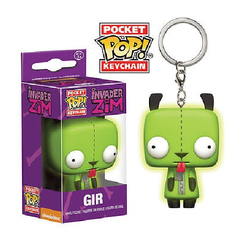 Invader Zim - GIR Pocket Pop! Keychain image