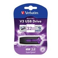 Verbatim Store'n'Go V3 USB 3.0 Drive - 32GB (Violet) image