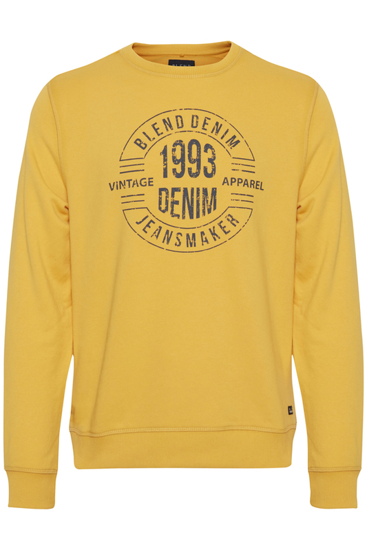 Blend: Golden Yellow Sweatshirt - XXL