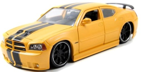 Jada: 1/24 Dodge Charger Srt8 2006 Diecast Model (Yellow) image