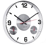 Karlsson Glass Therm & Hygro Wall Clock