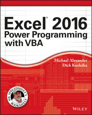 Excel 2016 Power Programming with VBA by Michael Alexander image