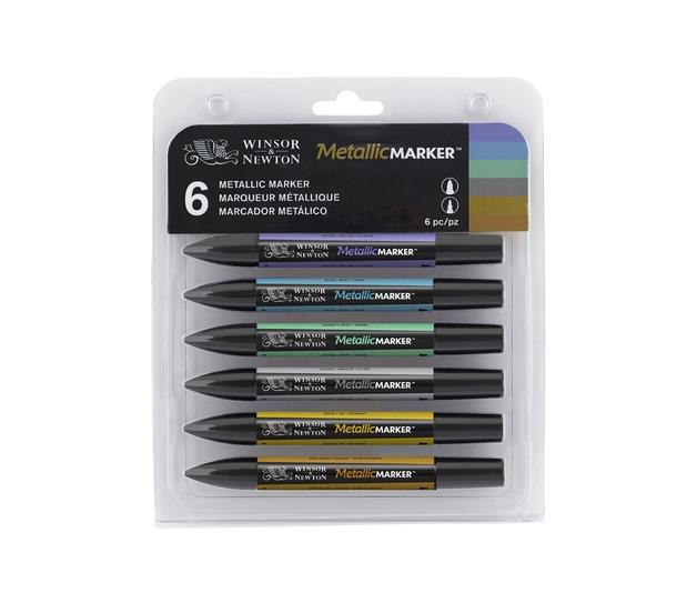 Winsor & Newton Promarker Metallic Marker Set 6