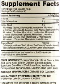 Optimum Nutrition Amino Energy Drink - Watermelon (30 Serves) image