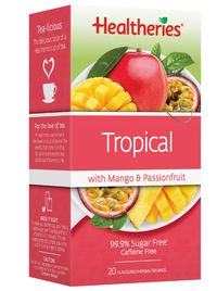 Healtheries Tropical with Mango & Passionfruit Tea (Pack of 20)