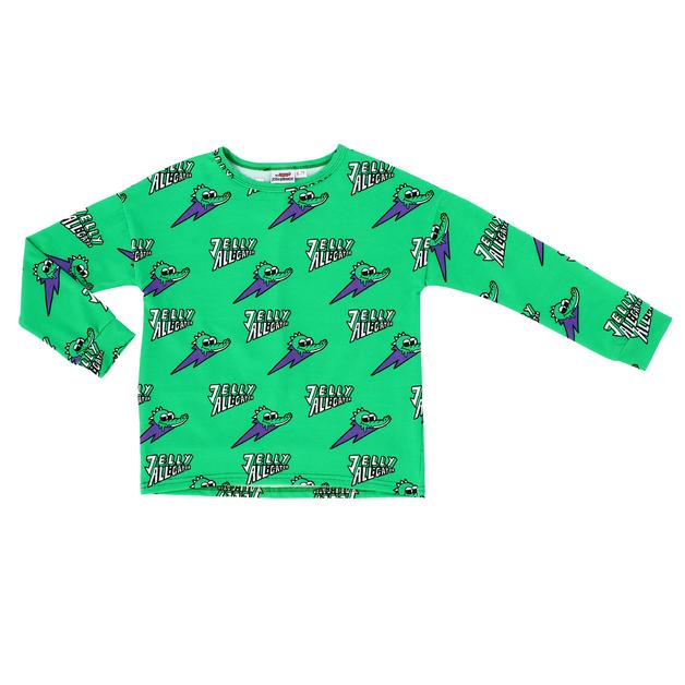 Jelly Alligator: Green Long-Sleeve T-Shirt - 4-5Y