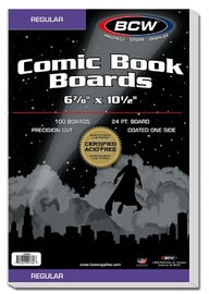 "BCW: Comic Backing Boards - Regular (6.8"" x 10.5"")"