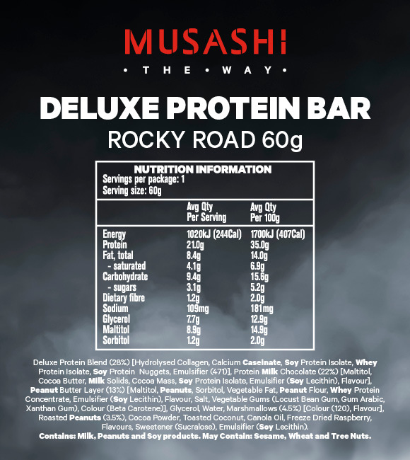 Musashi: Deluxe High Protein Bar - Rocky Road (12x60g) image