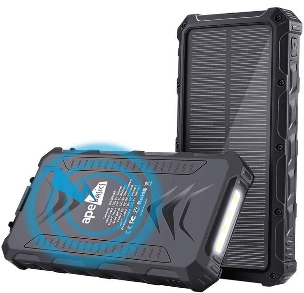 Ape Basics Classic 16,000mAh Solar Powered Battery Bank