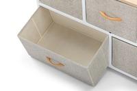 Ovela: 5 Drawer Storage Chest - Beige