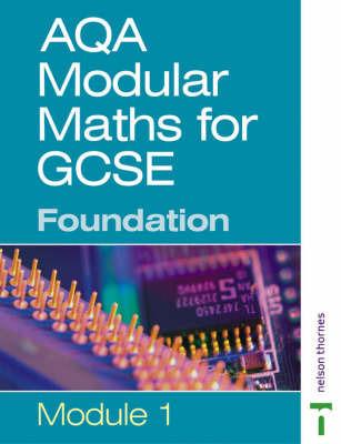 AQA Modular Maths: Foundation: Modular 1 by Paul Metcalf