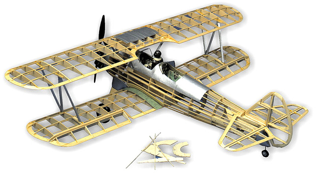 Stearman PT17 1:16 Balsa Model Kit