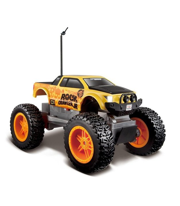 Maisto Rock Crawler Junior 4WD R/C Vehicle - Yellow/Orange