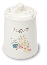 Cooksmart: Top Cats - Ceramic Sugar Canister