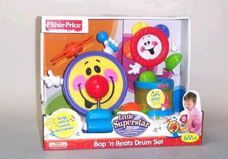 Fisher Price LS Bop n Beat Drum Set image